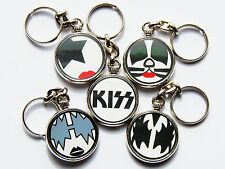 KISS Classic Rock Band Quality Chrome Keyring Choose Your Design!