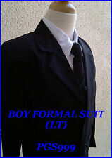 PGS NEW WEDDING  BLACK BOY FORMAL SUIT RING BEARER GRADUATION TUXEDO ALL SIZE