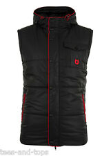 UNSUNG HERO MENS PADDED GILET BODYWARMER JACKET BLACK - RRP £40! - KARAKORAM
