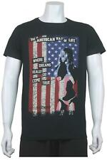 NEW MENS UNSUNG HERO USA FLAG PRINTED SHORT SLEEVE TSHIRT-AMERICAN DREAM