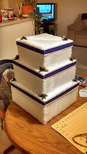CUSTOM MADE TIERED WEDDING CAKE CARD BOXES