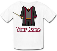WIZARD BODY PERSONALISED CHILDS T-SHIRT -GREAT KIDS FANCY DRESS GIFT & NAMED TOO