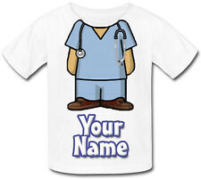 NURSE / NURSE'S MEDICAL PERSONALISED KIDS T-SHIRT - GIFT FOR ANY CHILD & NAMED