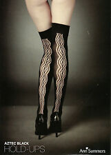 ANN SUMMERS AZTEC Black Lace HOLD UPS STOCKINGS Sizes S/M/L/XL @NEW@ BNWT