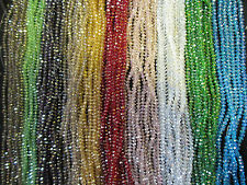 4mm 6mm 8mm 10mm AB Beads Beautiful Faceted Rondelle Glass Crystal in Strings
