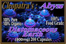 Organic Food Grade Diatomaceous Earth FDA Approved Cleopatras Abyss Capsules