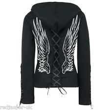 Poizen Industries Angel  Wings Gothic Emo Punk Ladies Girls Lace Hood