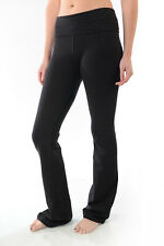 YOGA Fitness Foldover Pants Flare Leg Slim Fit Heavy Thick Quality T-Party