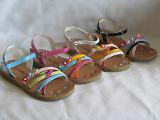 Girl Dress Sandals Multi Colored (ny31) TODDLER Dress Shoes Pageant Party Shoes
