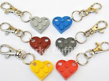 LEGO® LOVE HEART KEYRING GIRLFRIEND BOYFRIEND BEST FRIEND FRIENDSHIP WIFE GIFT