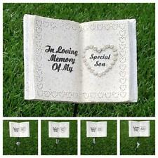 Graveside Memorial Book Plaque Tribute Stick VARIETY Funeral Grave Stone