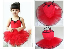Girls Kid Child Party Ballet Costume Tutu Leotard Skirt Dance Dress 5-8Y 4Colors