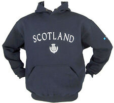 Scotland Thistle  Embroidered Live for Rugby Navy Hoody Sizes XS - XXL