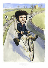 Guy Martin No Brakes! Gayle Mill caricature from How Britain Worked by Billy