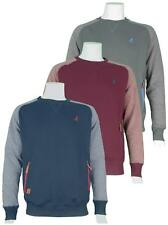 NEW MENS KANGOL CREW NECK CONTRAST SLEEVE SWEATSHIRT WITH ELBOW PATCHES K606600
