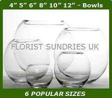 NEW Clear Glass Bubble Fish Bowl Vase Wedding Party - 6 DIFFERENT SIZES