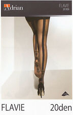 "Back Seamed Tights Adrian ""FLAVIE"" 20 den Patterned Tights"