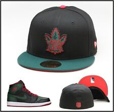 New Era Toronto Maple Leafs Custom Fitted Hat For Air Jordan 1 drake ovo topszn