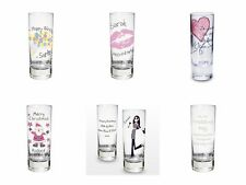 PERSONALISED SHOT Glass for 18 21 30 40 50 60 Birthday Gift Best Friend Present