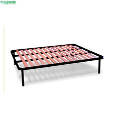 Iron Slatted Bed Base APPLE Beechwood Slats Mattress Available in Every Size