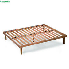 Beechwood Slatted Bed Base Fixed ORANGE for Mattress Available in Every Size