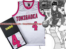 SLAM DUNK Cosplay Tomigaoka School Basketball Team #4 Rukawa Replica Jersey WHT
