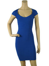 Royal Blue Cobalt Crisscross Sleeveless Cocktail Party Bandage Bodycon Dress