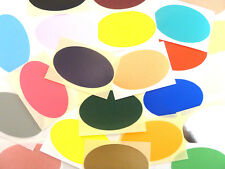 Large 82x51mm Oval Colour Code Stickers Large Coloured Sticky Labels 32 Colours