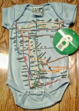 Infant Onesie Featuring Nyc Subway Line Map NWT