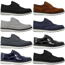 Mens New Fashion Black Suede Lace Up Smart Casual Shoes UK SIZE 6 7 8 9 10 11