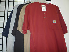 Carhartt Workwear Henley Pocket T-Shirt, K84, Short Sleeves. 4 colors