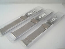 New - Rowi Watch Strap - Top Quality -  Stainless Steel Mesh - To Fit 18 - 22mm