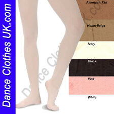 Economy Ballet Tights / Dance / School Tights White, Pink, Black, Ivory, Tan