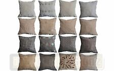 "NEW Floral Square Circles Leaves Faux Suede Luxury Cushion Cover 45x45cm 18""x18"""