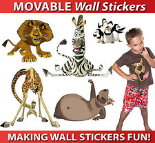 Madagascar Wall Stickers - Totally MOVABLE