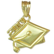 Gold Class of 2013 Commencement Graduation Cap Charm Pendant