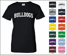 Bulldogs College Letter Woman's T-shirt