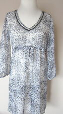 BOUX AVENUE STUNNING CHIFFON KAFTAN HOLIDAY TUNIC COVER UP TOP  NEW 8-20