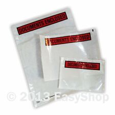 A7 A6 A5 A4 Self Adhesive Document Enclosed Envelope Wallet Printed Plain