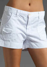 J BRAND CADET MILITARY PATCH POCKET TWILL SHORTS IN WHITE
