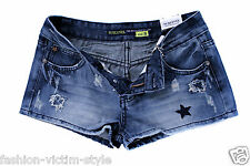SUBLEVEL DAMEN JEANS SHORTS HOT PANTS VINTAGE KURZE HOSE XS S M L XL