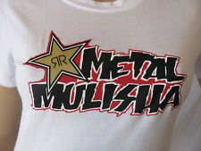 New METAL MULISHA Womens Jrs White S/S Printed Rockstar Works Tee Shirt Top $30