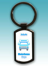 PERSONALISED MOTORHOME KEYS METAL KEYRING WITH GIFT BOX - YOUR NAME OR TEXT
