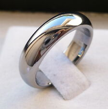 6mm TUNGSTEN CARBIDE DOMED HIGH POLISHED MEN'S C/FIT  WEDDING BAND RING SZ 5-15