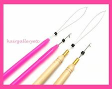 Micro Link Ring Beads Feather Hair Extension i tip Loop Hook Pulling Needle