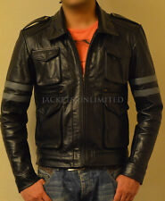 RE6 RESIDENT EVIL 6 LEON KENNEDY'S BLACK Faux LEATHER JACKET ALL SIZE AVAILABLE