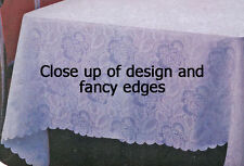 Tablecloths Damask Permanent Press 100% polyester