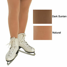 Childrens Ice Skating Tights Dance Full Footed Adult Natural Suntan 170 DenThick