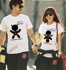 men women couple t shirt tops for 2014 summer fashion clothes cartoon printedT76