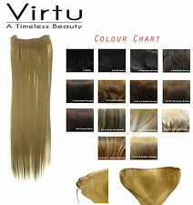 INVISI FULL HEAD HAIR EXTENSIONS ON WIRE HEAT RESISTANT 180 DEGREES- 14 COLOURS